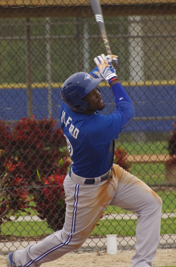 Anthony Alford went 3-for-3 with two doubles and a triple for the triple-A Buffalo Bisons on Friday. Photo Credit: Jay Blue