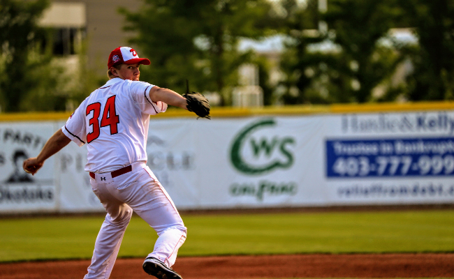Dawgs Academy product Graham Brunner improved his record to 2-0 after tossing five dominant innings for the Dawgs in the first game of their doubleheader on Sunday. (FILE PHOTO)