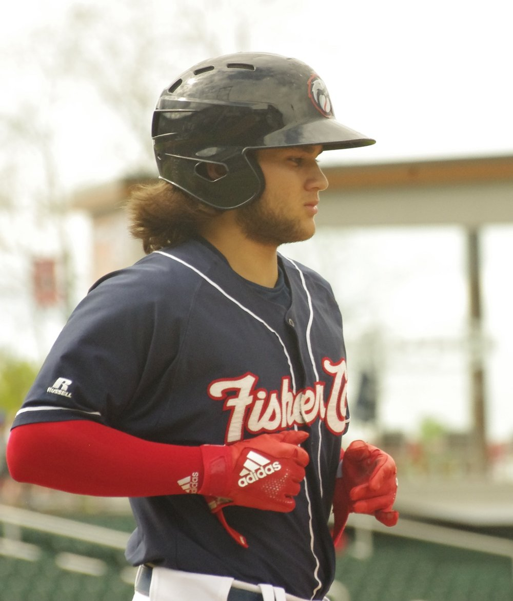 Bo Bichette had two doubles and a home run for the double-A New Hampshire Fisher Cats on Monday. Photo Credit: Jay Blue
