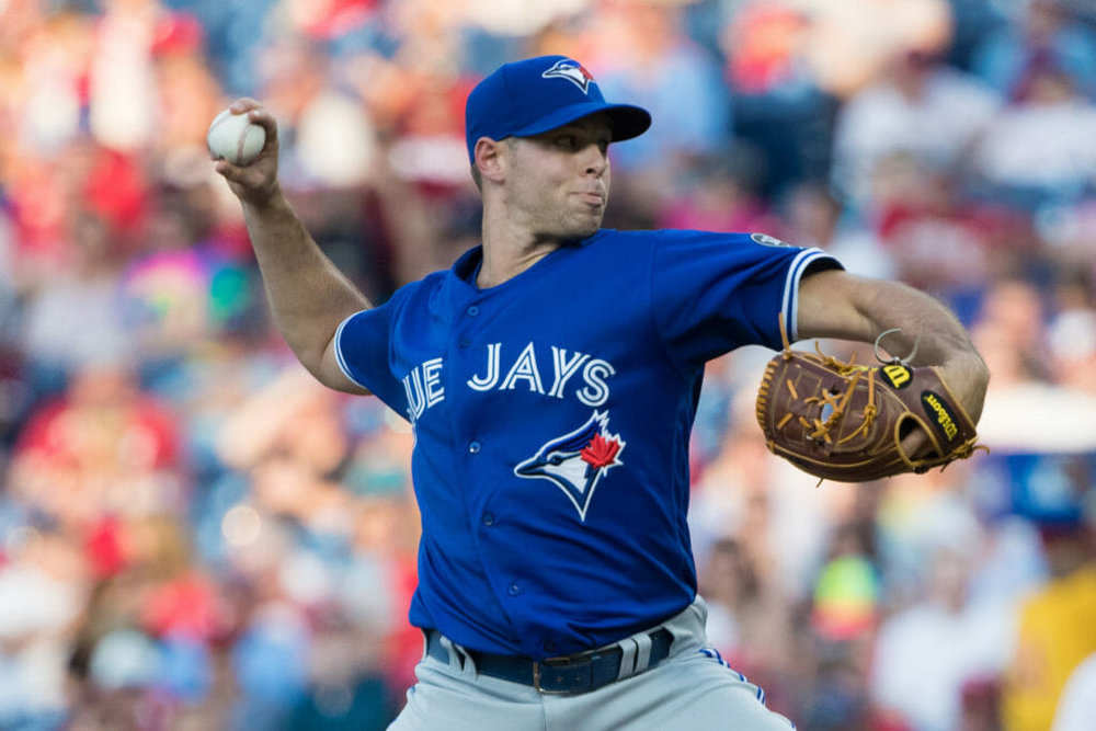 Right-hander Sam Gaviglio has impressed in the Toronto Blue Jays' rotation this season. Photo Credit: USA Today Sports