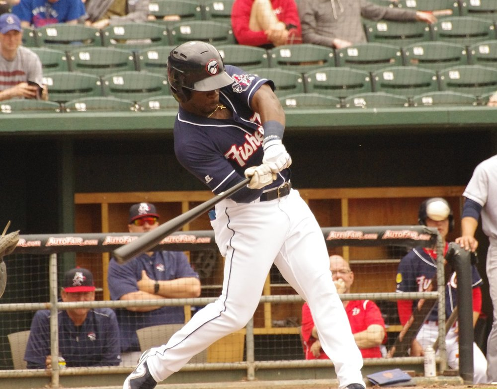 Jonathan Davis hit for the cycle for the double-A New Hampshire Fisher Cats on Tuesday. It was the first cycle in Fisher Cats' history. Photo Credit: Jay Blue