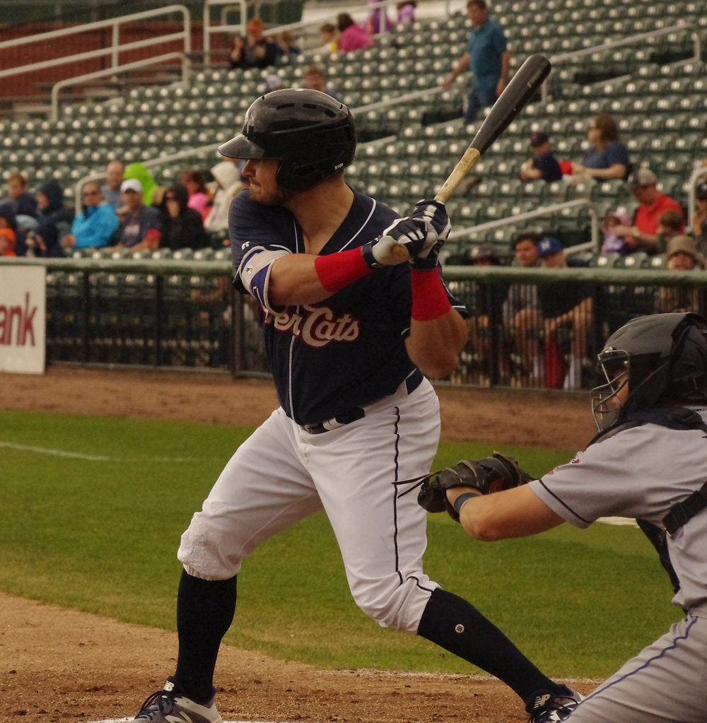 Toronto native Connor Panas hit a three-run home run for the double-A New Hampshire Fisher Cats on Wednesday. Photo Credit: Jay Blue