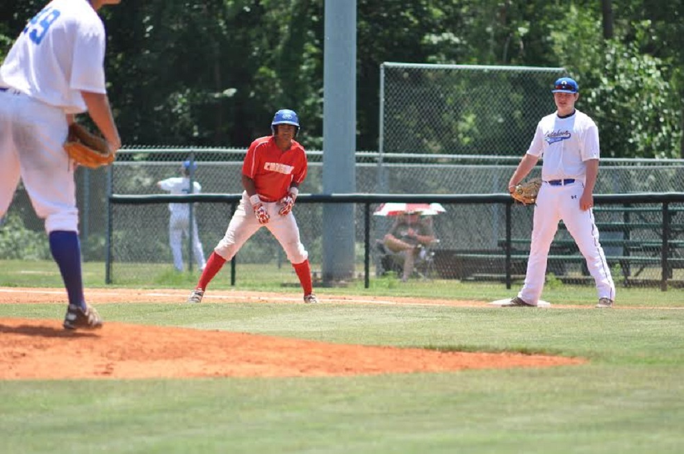 Elijha Hammill swiped 10 bases at the Sunbelt Sophomore Classic in Oklahoma. Photo:Lucy Wetherall