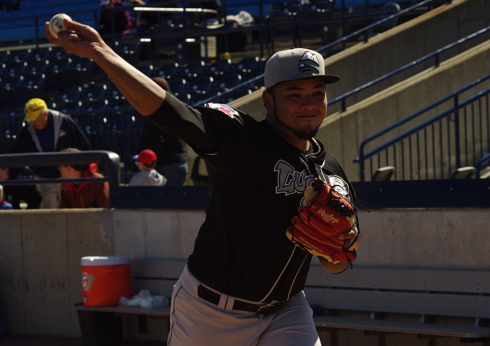 Maximo Castillo picked up his seventh win of the season for the low-A Lansing Lugnuts on Thursday. Photo Credit: Jay Blue