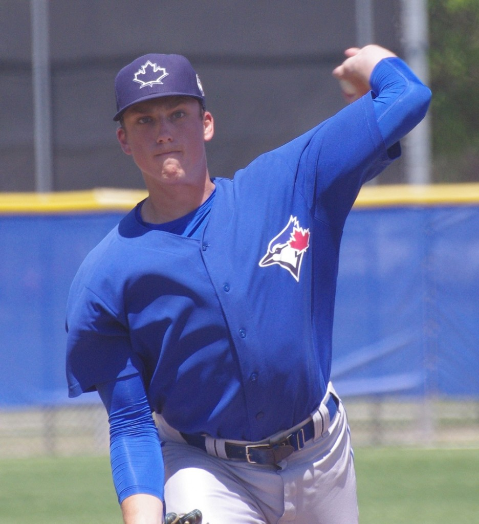 Toronto Blue Jays left-hander Ryan Borucki allowed just two runs in his first major league start on Tuesday. Photo Credit: Jay Blue