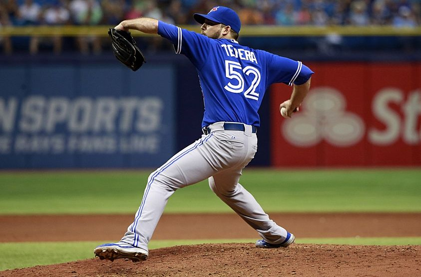 Toronto Blue Jays' interim closer Ryan Tepera was placed on the disabled list on Saturday.