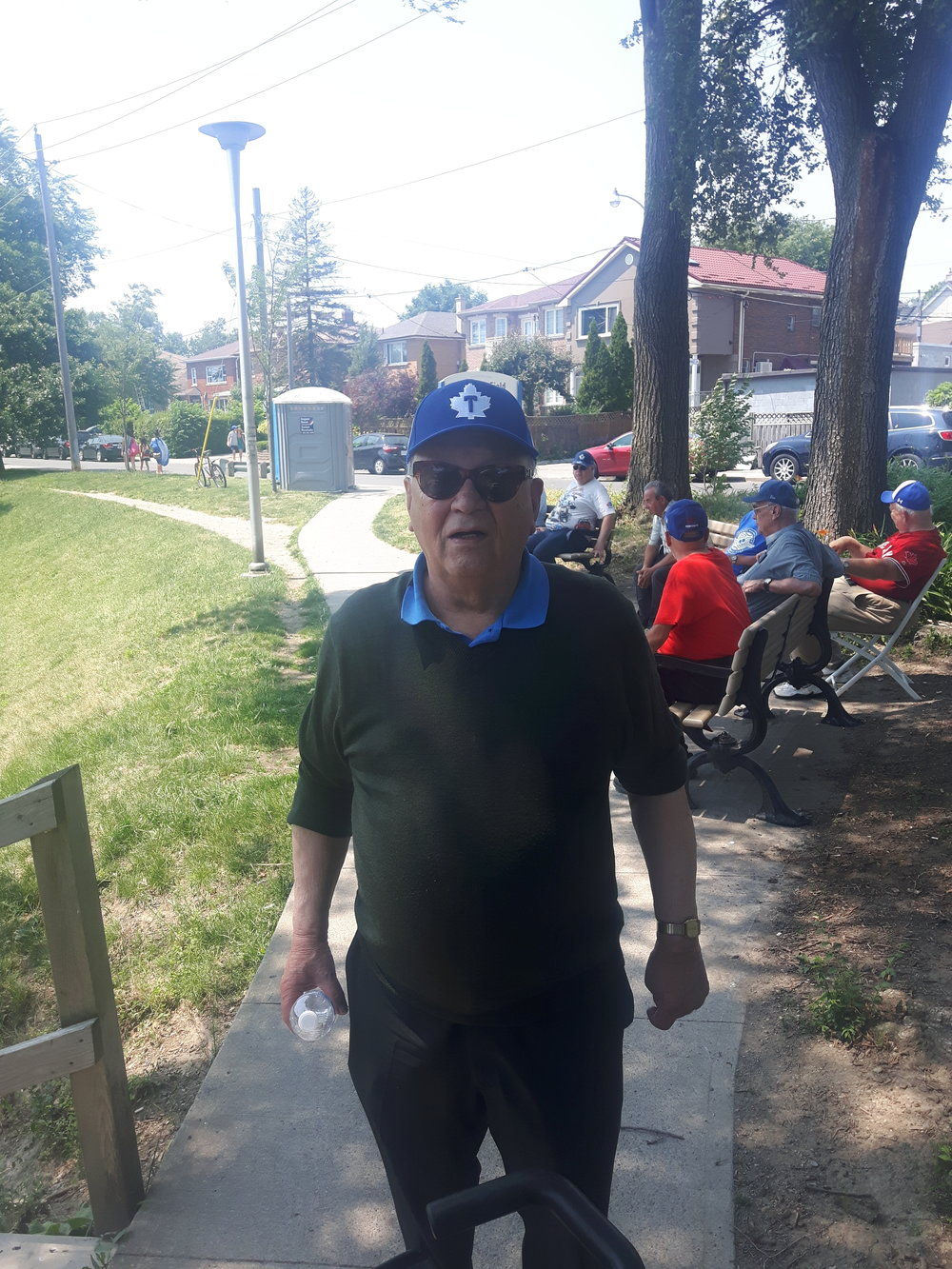 Jack Domenico has owned the Intercounty League's Toronto Maple Leafs for 50 years and he was there to support his team at the field named in honour on Sunday. Photo Credit: Danny Gallagher