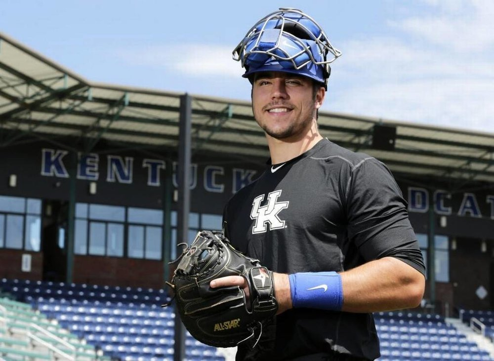 C-1B Kole Cottam (Memphis, Tenn.) whose father, HJeff, grew up on the hard diamonds at Nelson Park in Burlington, Ont. was drafted by the Red Sox.