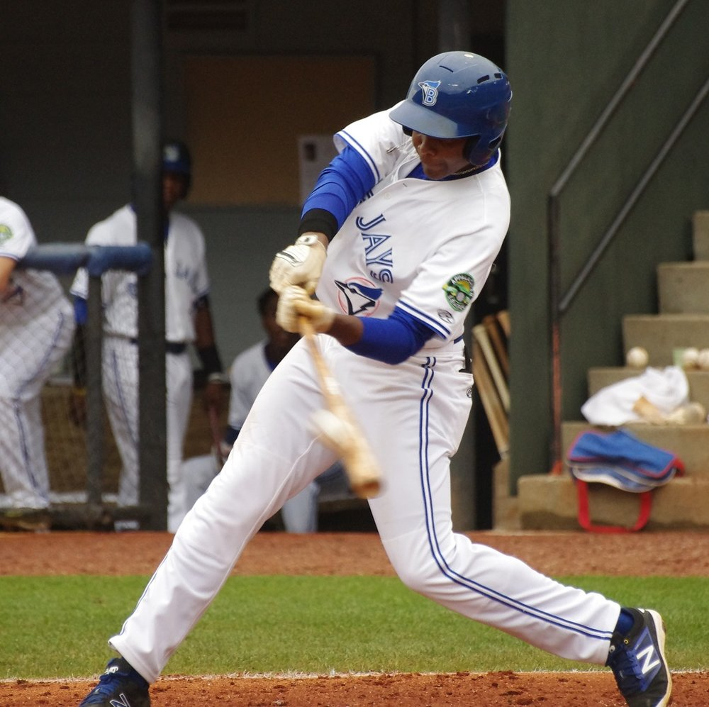Jesus Severino went 3-for-4 for the class-A Short-Season Vancouver Canadians on Saturday. Photo Credit: Jay Blue