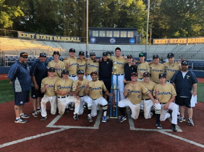 The Ontario Terriers won the Continental Amateur Baseball Association World Series title beating the Premier Athletics Blues.