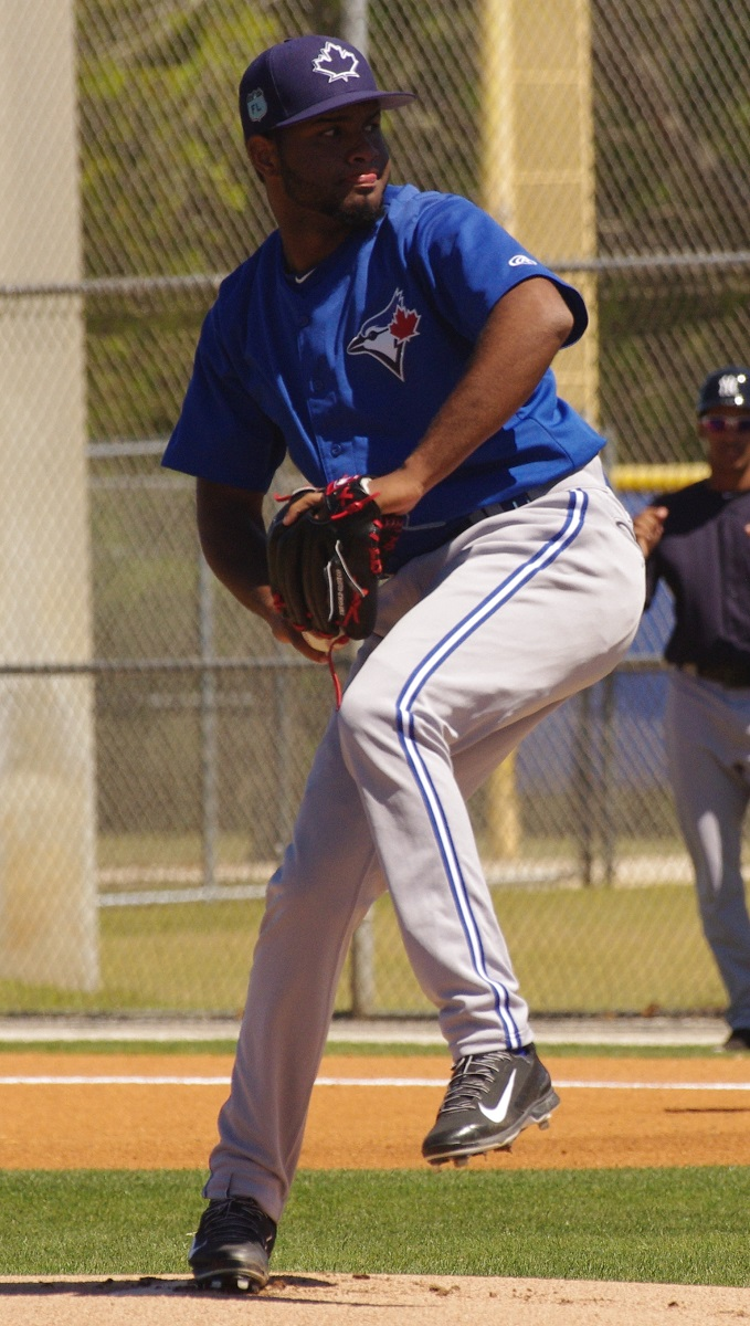 Yennsy Diaz allowed just one run in six innings in his start for the class-A Advanced Dunedin Blue Jays on Sunday. Photo Credit: Jay Blue