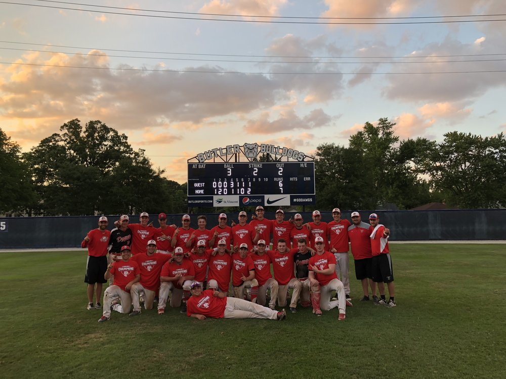 The Okotoks Dawgs won the Butler University 18U National Wood Bat championship in Indianapolis.