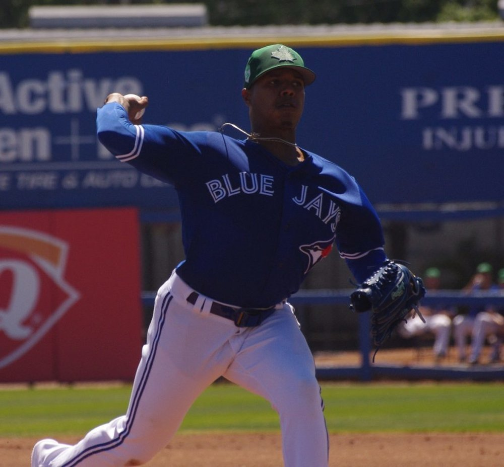 Right-hander Marcus Stroman earned the win in the first of two games the Toronto Blue Jays played against the Atlanta Braves earlier this week. Photo Credit: Jay Blue