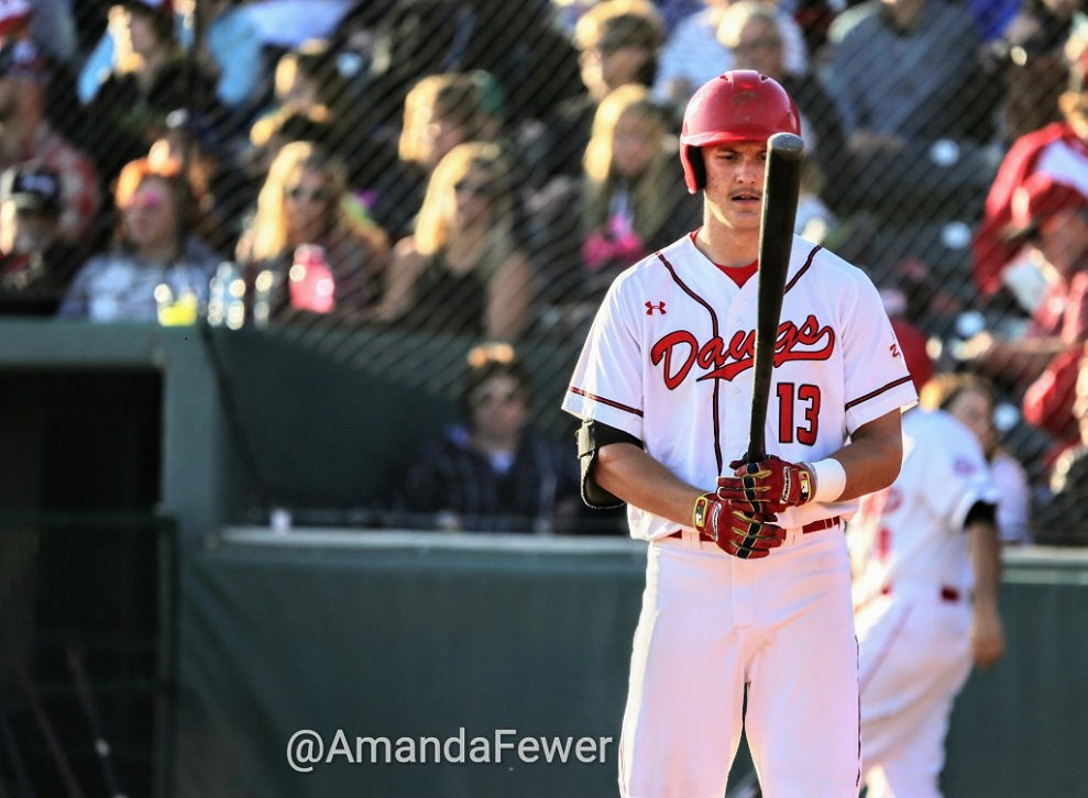 Ryan Humeniuk had a pinch-hit, two-run double for the Okotoks Dawgs on Tuesday. Photo Credit: Amanda Fewer (FILE PHOTO)