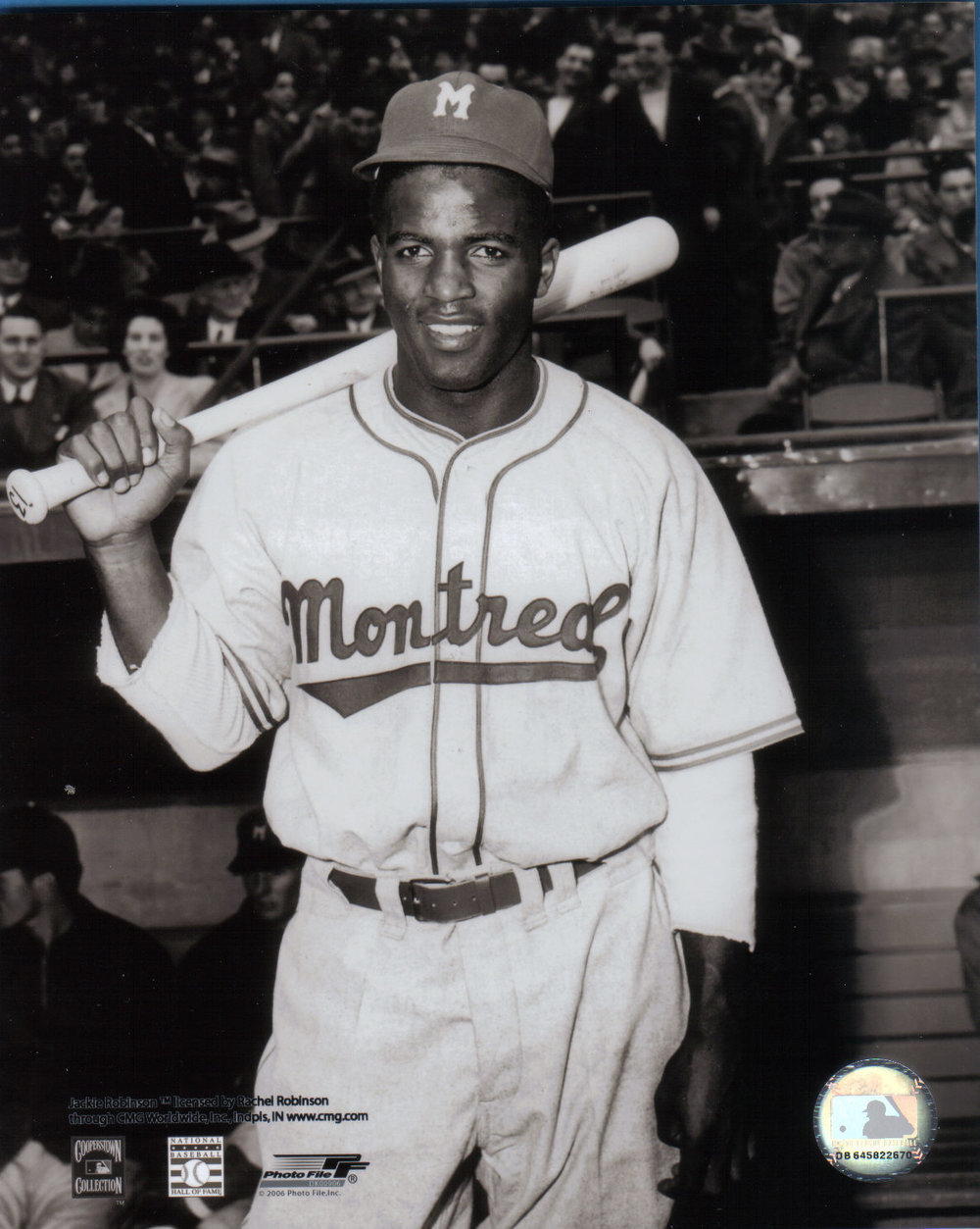 Prior to breaking Major League Baseball's colour barrier, Jackie Robinson played the 1946 season with the International League's Montreal Royals.