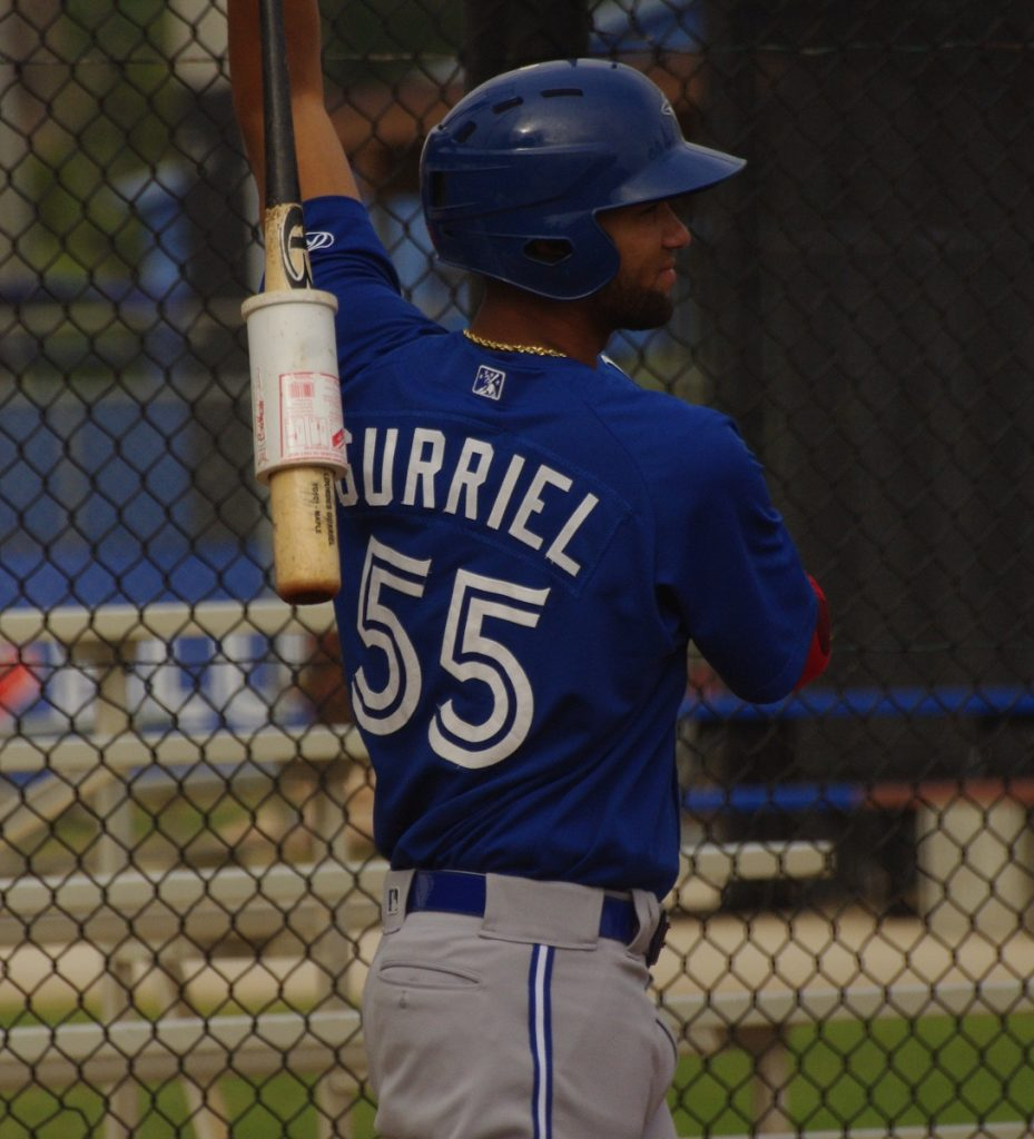 Lourdes Gurriel was 7-for-14 in the series against the Boston Red Sox before being sidelined by a concussion. Photo Credit: Jay Blue