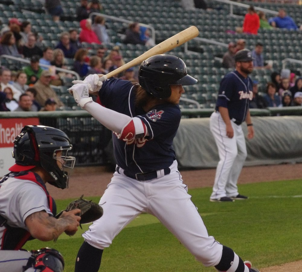 Bo Bichette had two doubles, a home run and five RBI for the double-A New Hampshire Fisher Cats on Saturday. Photo Credit: Jay Blue