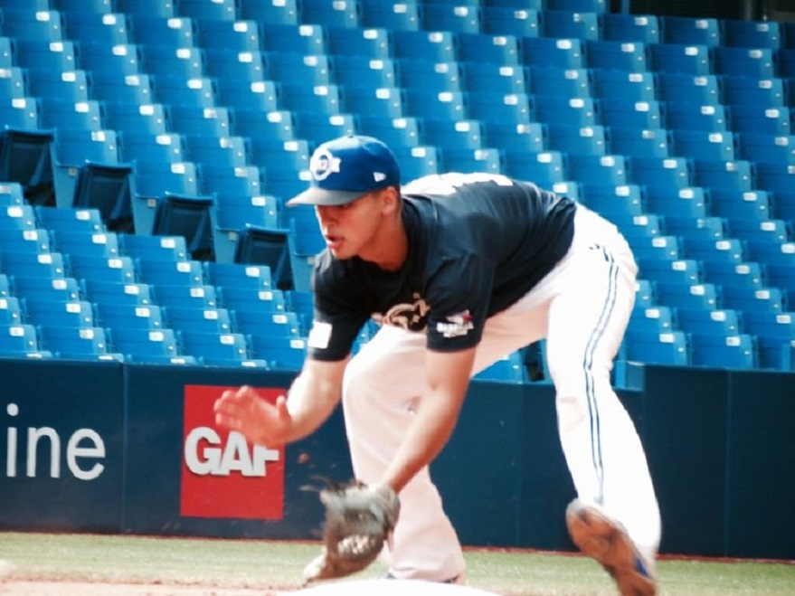 Ontario Blue Jays INF TJ Schofield-Sam is back for another T12. Photo: Tyler King.