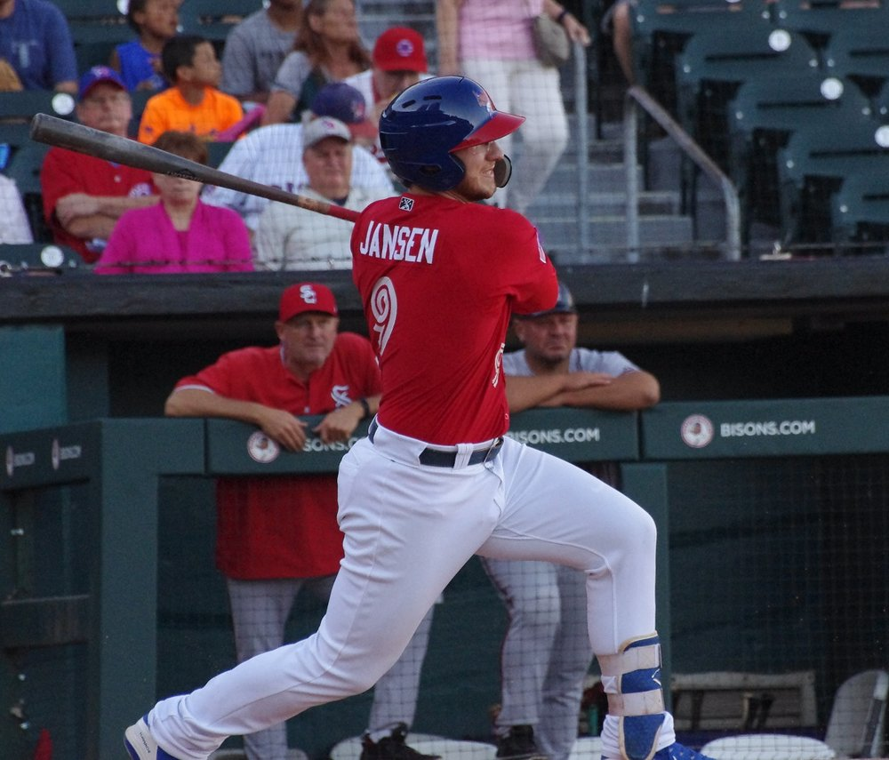 Danny Jansen clubbed his team-leading 11th home run of the season for the triple-A Buffalo Bisons on Tuesday. Photo Credit: Jay Blue