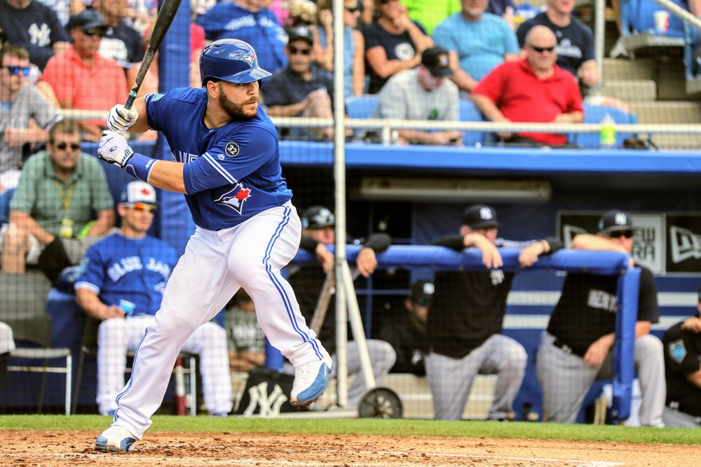 Russell Martin (Montreal, Que.) hit his 64th home run as a Toronto Blue Jay on Friday. This moves him into second place among Blue Jays' catchers. Photo Credit: Amanda Fewer