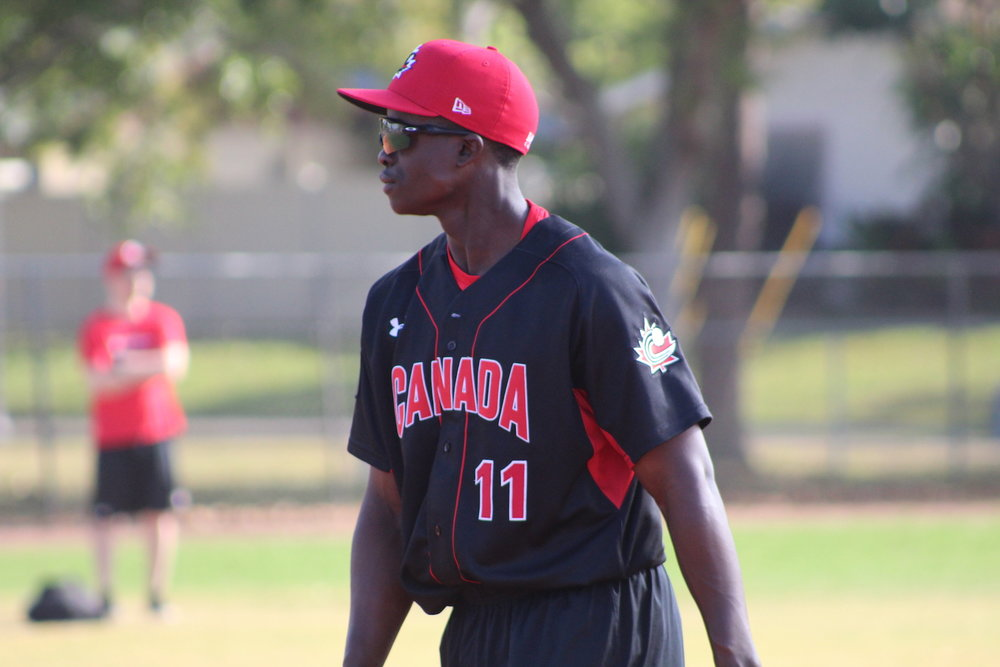Junior National Team and Ontario Blue Jays infielder Jaden Brown has been selected to participate in the Perfect Game All-American Classic. Photo Credit: Jay Blue