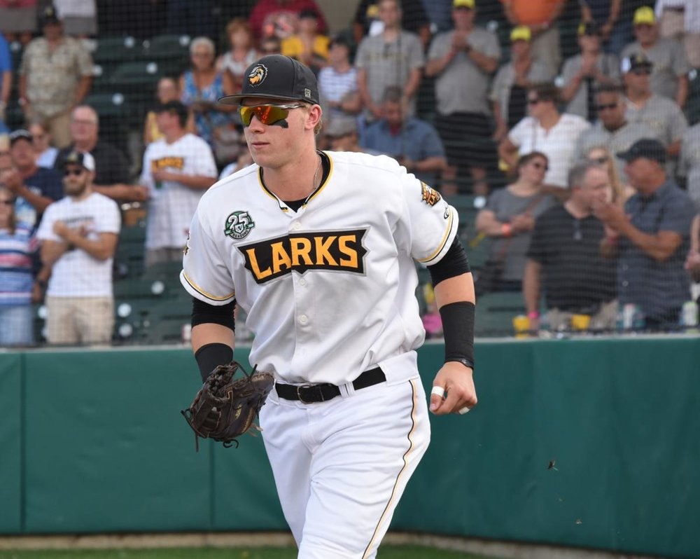 Great Lake Canadians grad 1B Matt Warkentin (Leamington, Ont.) is having a summer to remember with the Bismark Larks.