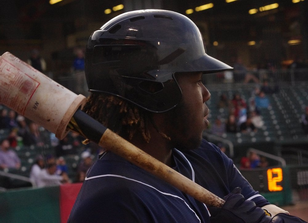 Vladimir Guerrero Jr. (Montreal, Que.) hit his first triple-A home run for the Buffalo Bisons on Wednesday. Photo Credit: Jay Blue
