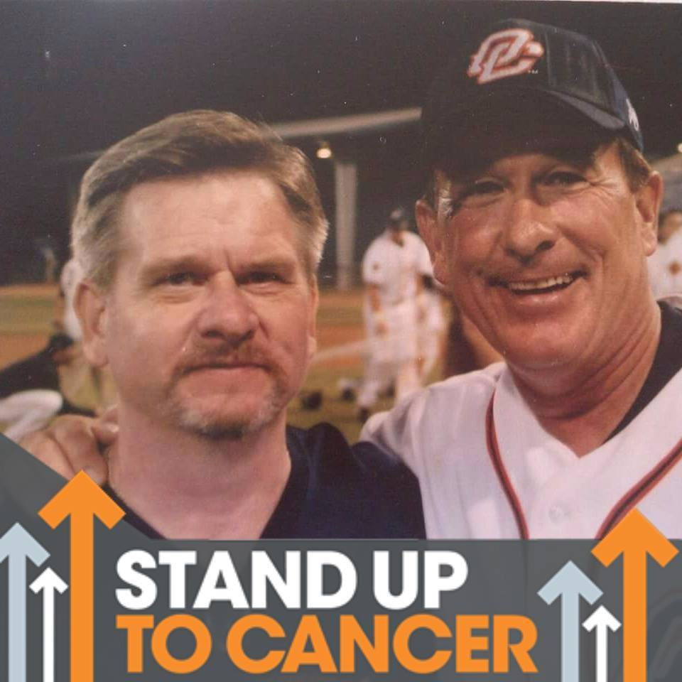 Russ Hansen (left) pictured her with his longtime friend Gary Carter is starting up a foundation to raise funds that will fight all kinds of cancer. Photo supplied by Russ Hansen.