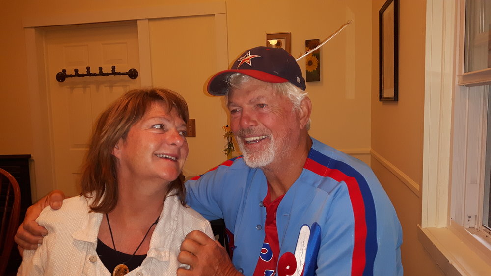 Seventy-one-year-old Bill Lee, pictured above with his wife, Diana, will pitch for the independent Can-Am League's Ottawa Champions on Labour Day . Photo Credit: Danny Gallagher