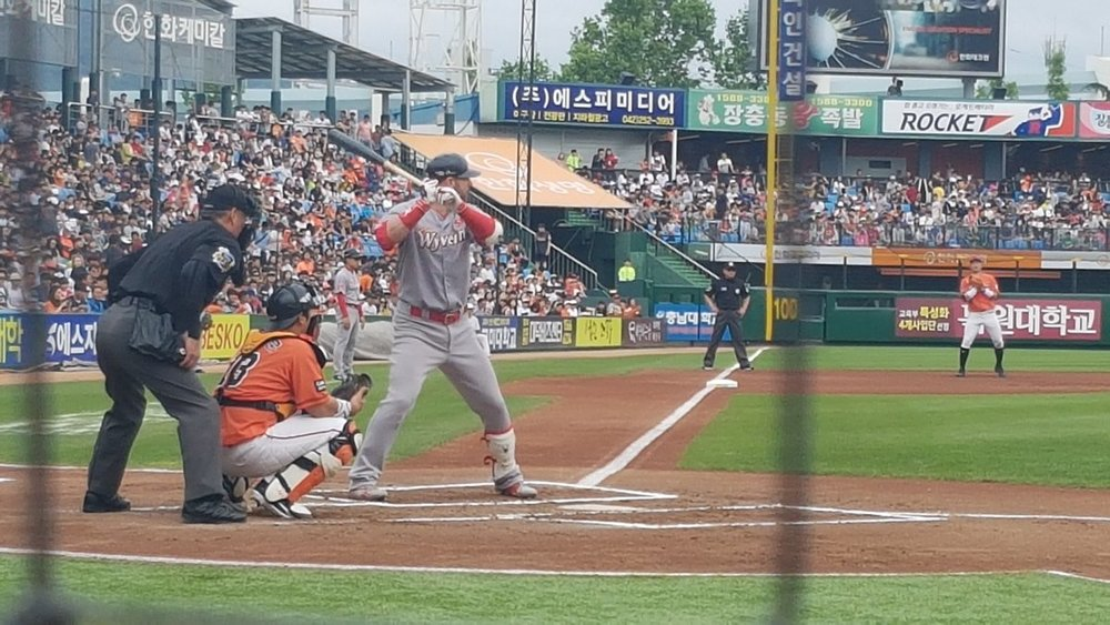 Jamie Romak (London, Ont.) hit 43 home runs for the SK Wyverns of the Korean Baseball Organization (KBO) in the 2018 regular season. Photo Credit: Sung Min Kim/Twitter