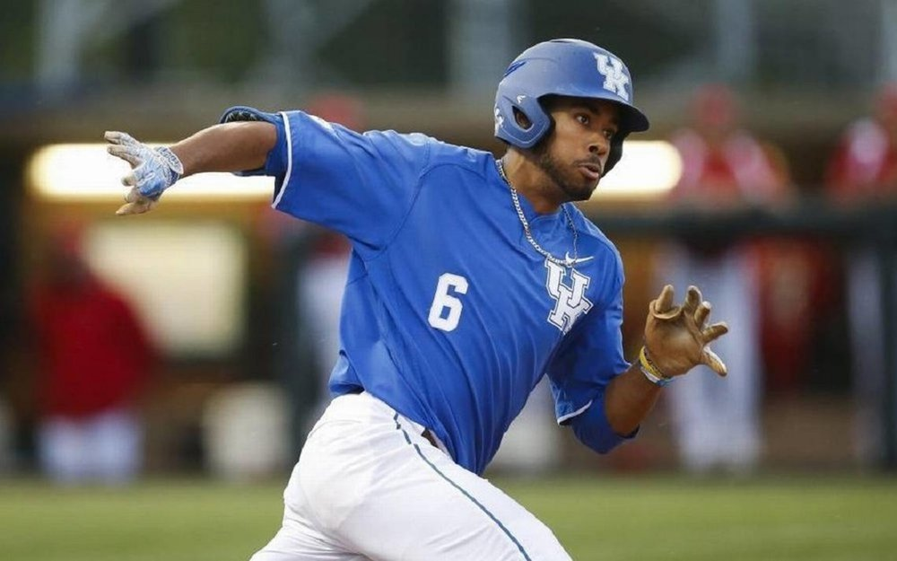 Former Toronto Met Tristan Pompey (Mississauga, Ont.) of the Kentucky Wildcats.