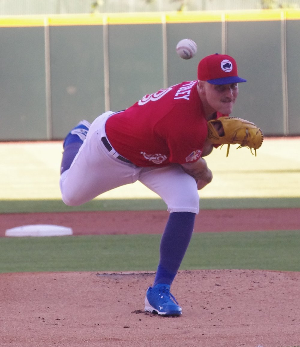 Right-hander Sean Reid-Foley could be a regular member of the Toronto Blue Jays rotation in 2019. Photo Credit: Jay Blue