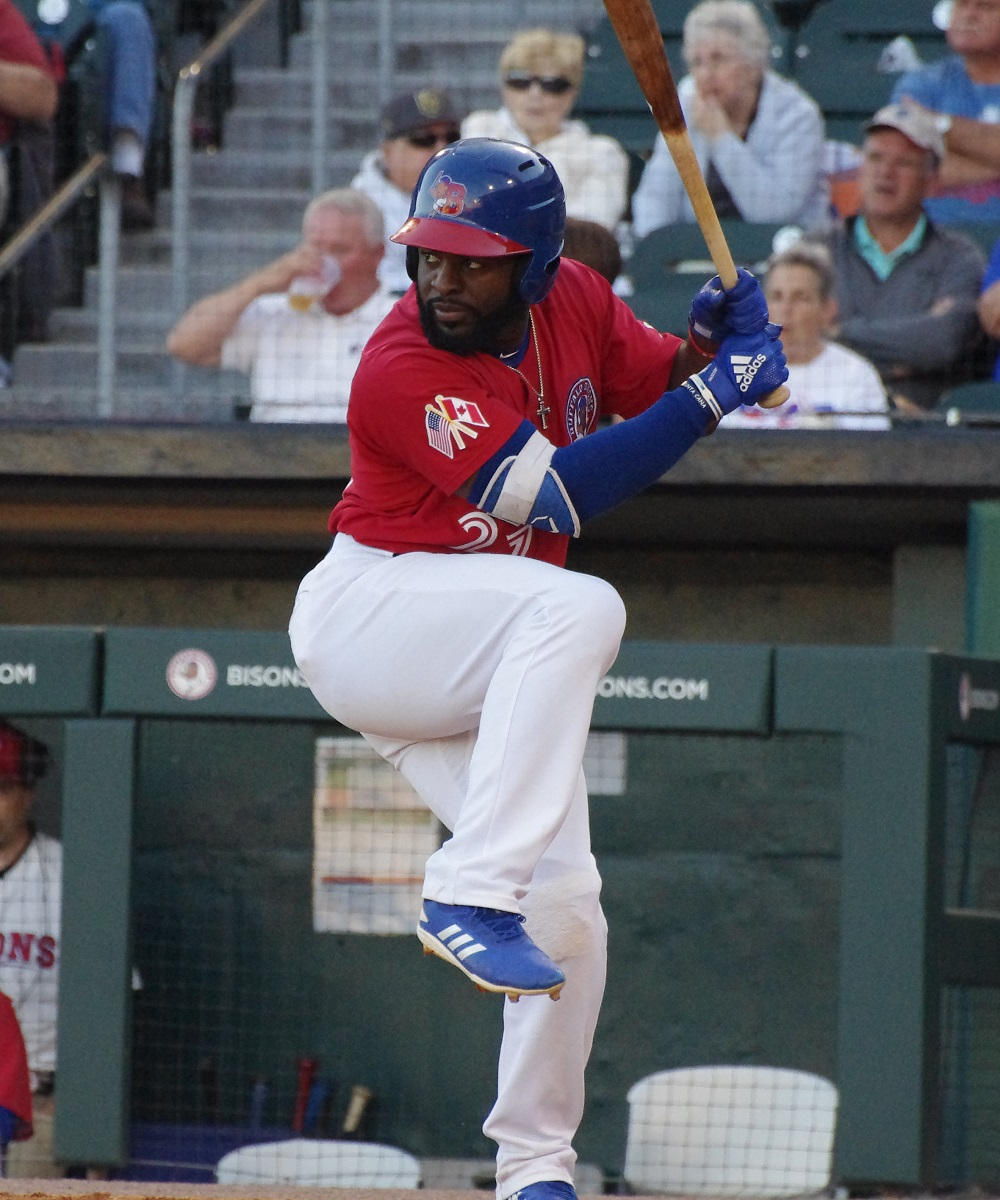 Though he's fared well in short stints at the big league level, Dwight Smith Jr. seems to be behind several other outfield prospects on the Toronto Blue Jays' depth chart. Photo Credit: Jay Blue