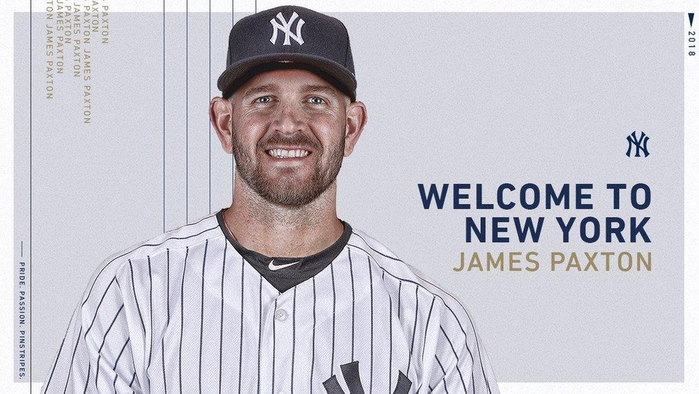 Ladner, B.C., native James Paxton, who was traded by the Seattle Mariners to the New York Yankees on November 19, is a first-time winner of the Canadian Baseball Hall of Fame's Tip O'Neill Award. Photo Credit: New York Yankees/Twitter