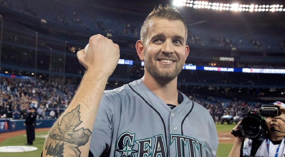 LHP James Paxton (Ladner, BC) shows his Big Maple tatoo after being the first Canadian to pitch a no hitter in Canada.