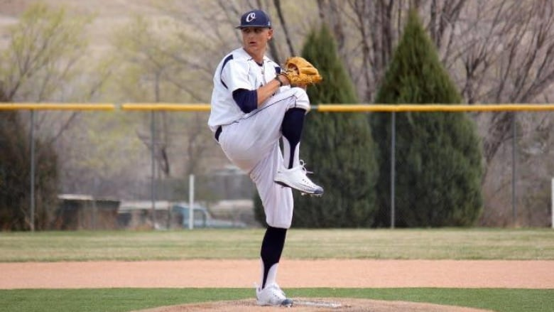 Left-hander Jonathan Cote passed away on May 29,, 2018 after a courageous battle with cancer. The North Delta Blue Jays have established a scholarship in his name and will retire his number. Photo Credit: Facebook