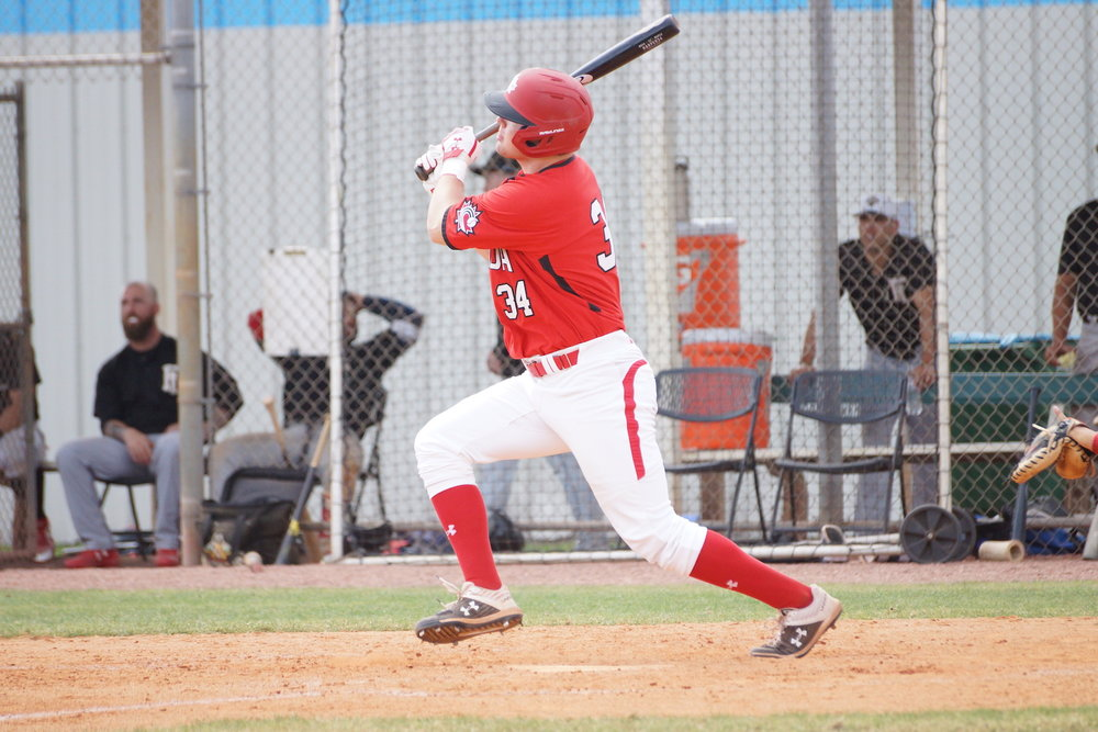 Toronto Mets standout Noah Hull (Toronto, Ont.) homered for the Junior National Team on Saturday. Photo: Eddie Michels.