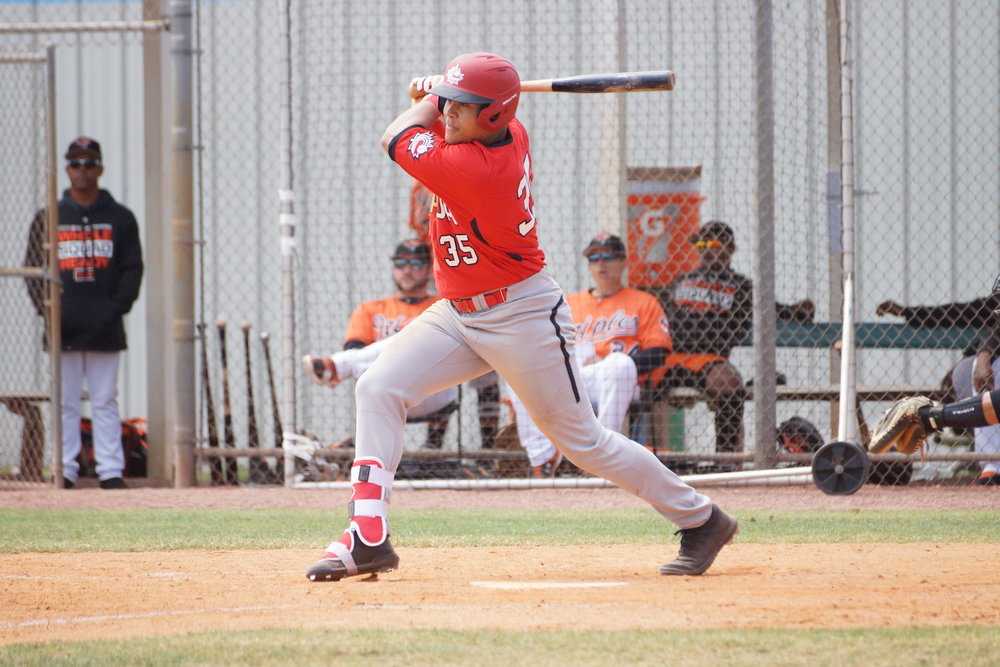 Toronto Mets alum Noel McGarry-Doyle (Maple, Ont.) had two hits, including a double, and an RBI for the Junior National Team on Monday. Photo: Eddie Michels