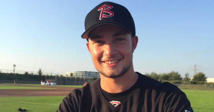 RHP Kyran Weemaels (Airdrie, Alta.) tossed seven scoreless innings for Cabrini. Photo: Global News.