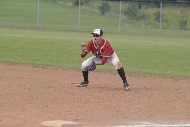 Team P.E.I, alum Josh Myers (Miscouche, P.E.I.) went 3-for-9 (.333 batting average) for SUNY Adirondack. Photo: Jason Malloy
