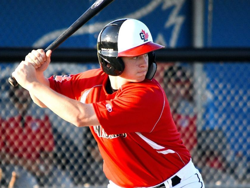Great Lake Canadians grad Spencer Marcus (Chatham, Ont.) went 7-for-20 (.350 batting average) for Dodge City College. Photo: Alexis Brudnicki.