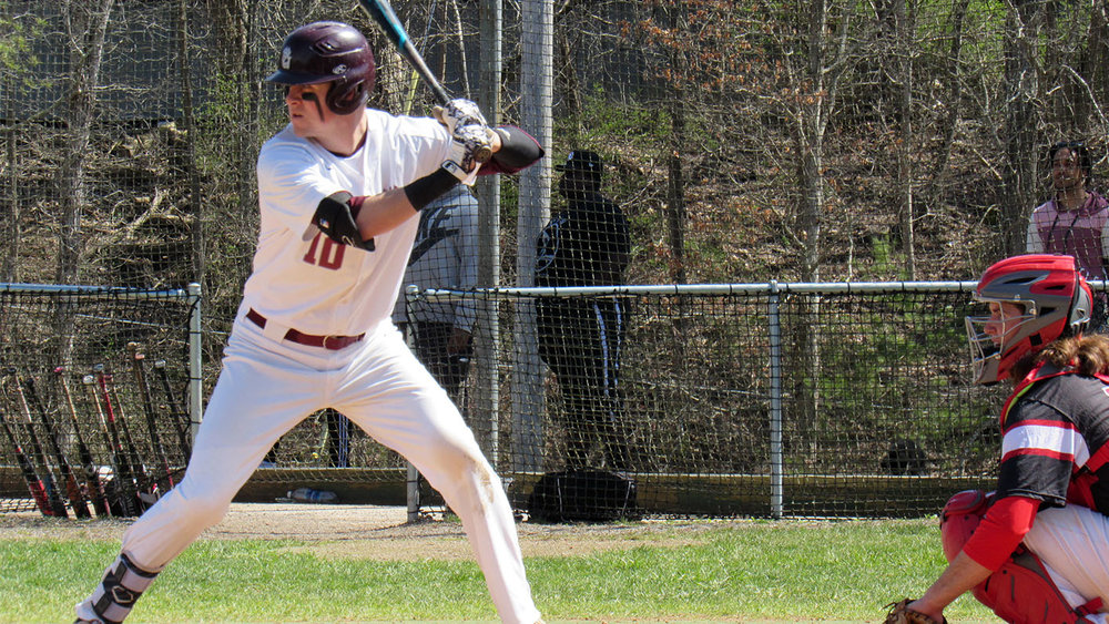 Whitby Chiefs alum Evan Webb (Whitby, Ont.) had five hits and eight walks in five games for Concord. Photo: Concord Athletics
