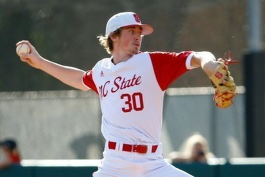 ABC and Junior National Team alum Mathieu Gauthier (Candiac, Que.) struck out six in three scoreless innings for North Carolina State. Photo: Baseball Quebec