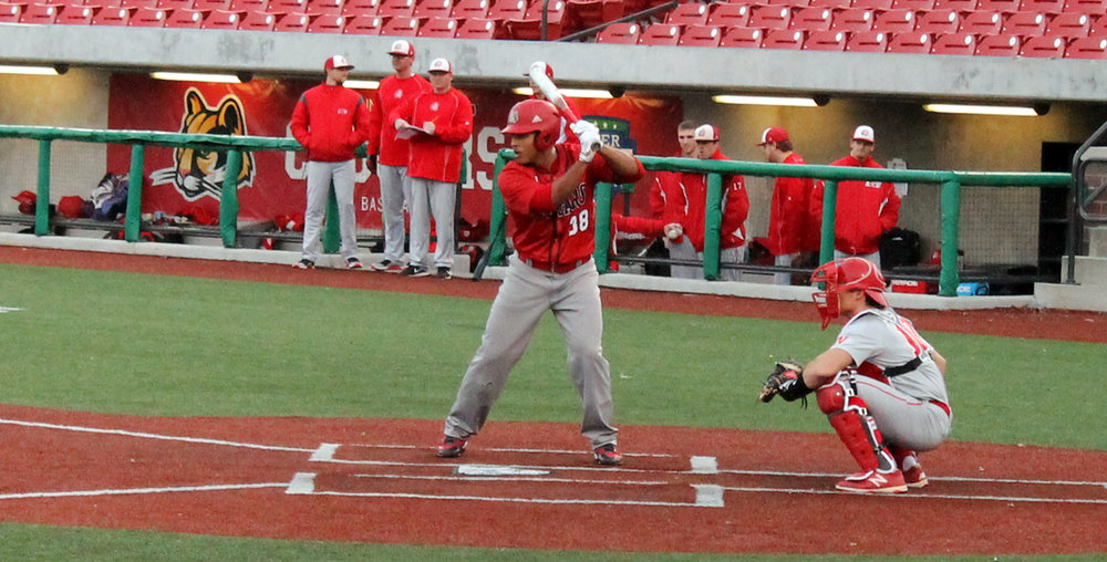 Newmarket Hawks alum Dalton Clarke (Newmarket, Ont.) had four hits - including a home run - in four games for the IU Cougars. Photo: IU Cougars