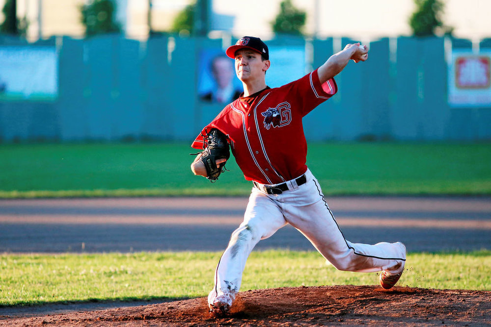 Granby Guerriers alum David Gauthier (Mont St-Hilaire, Que.) allowed just one run in seven innings in his start for Nyack. Photo: Archives, la Voix de l'Est