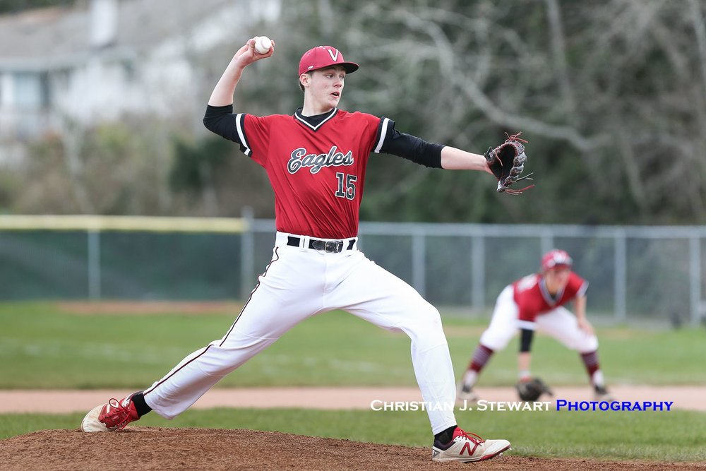 Victoria Eagles alum Hayden Wilcox (Victoria, B.C). allowed just one earned run in four innings in his start for Dodge City. Photo: Christian J. Stewart
