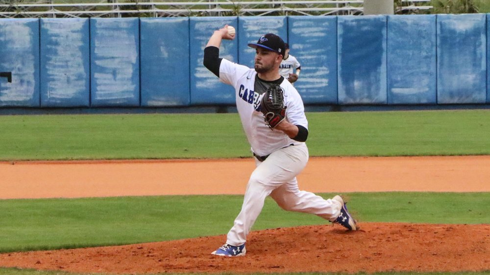 Prairie Baseball Academy grad Kyran Weemaels (Airdrie, Alta.) hurled a complete game and allowed just two earned runs for Cabrini. Photo: Cabrini Athletics
