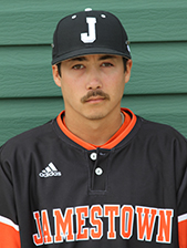 Ontario Terriers grad Grant Okawa (Mississauga, Ont.) had nine hits - including a home run - in 17 at bats for the Jamestown Jimmies. Photo: Jamestown Athletics