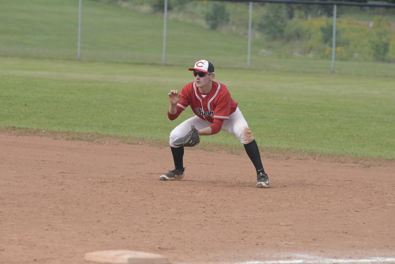 Team PEI grad Josh Myers (Miscouche, PEI) had 10 hits and six walks in eight games for SUNY Adirondack. Photo: Jason Malloy, Journal Pioneer