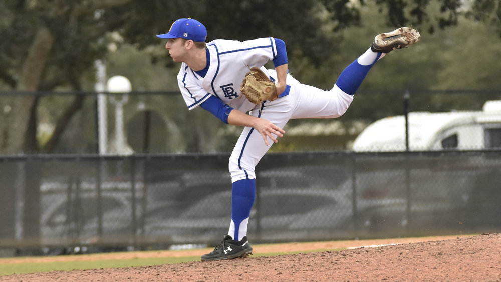 Garrett Goodall (Nanaimo, BC) delivered 6 1/3 innings for the Embry Riddle Aeronautical University Eagles, surrendering just one run to pick up a win. His record now stands at 6-0 Photo: Embry Riddle Athletics